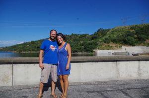 Wir am Kariba Staudamm